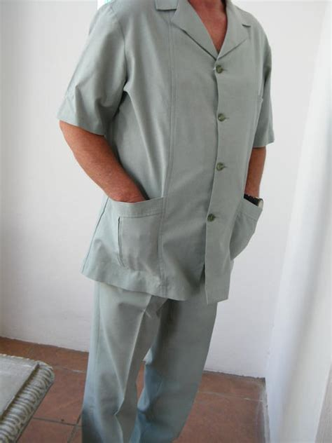 Suits - Men's Light Sea Green Safari Suit by Sterling was