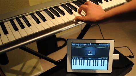 How to connect M-Audio Keystation 49e with an iPad - YouTube
