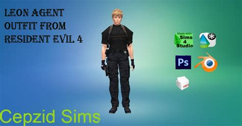 Sims 4 CC's - The Best: Leon Agent Outfits From Resident
