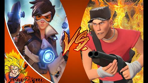Tracer VS Scout _ DEATH BATTLE! (Overwatch VS Team