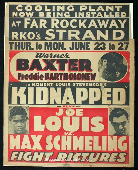 (3) Vintage Boxing Displays with Louis vs