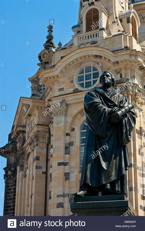 Doctor Martin Luther in front of the Frauenkirche Church