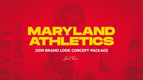 Maryland Athletics   Brand Look Concept Package on Behance