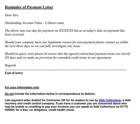Payment Reminder Letter Format (16+ Samples & Examples)
