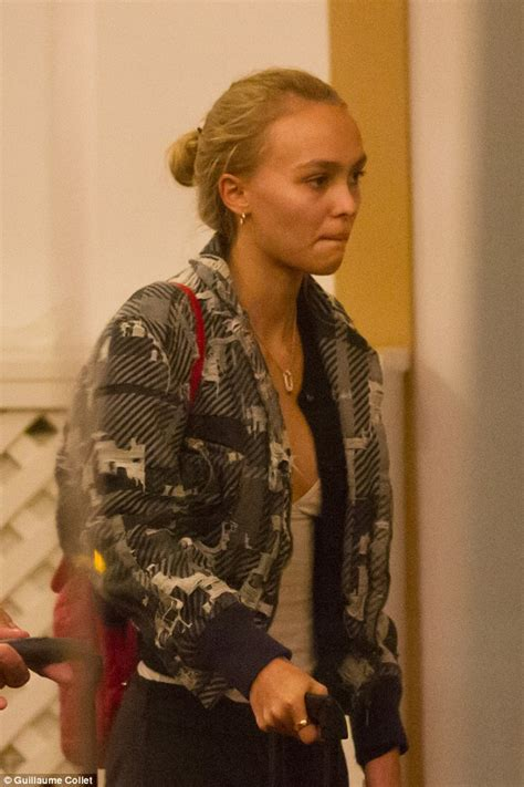 Lily-Rose Depp keeps it casual as she touches down in