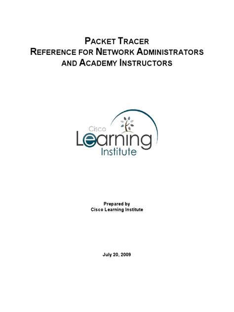 Packet Tracer Reference for Network Administrators and