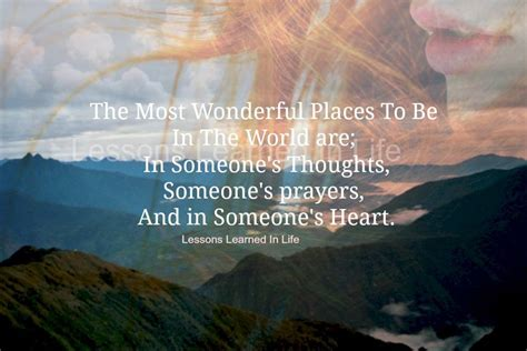 Lessons Learned in LifeThe most wonderful places to be
