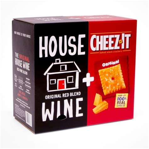 You can Get A Box That Is FULL OF CHEEZ-ITS AND WINE!