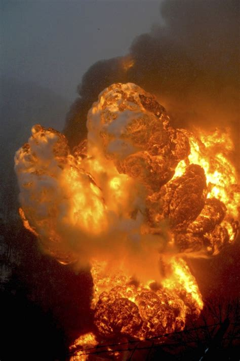Two oil trains derail, tank cars burning in West Virginia
